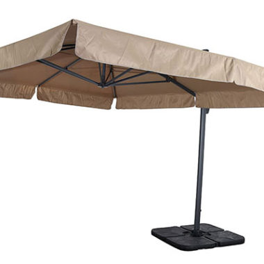 ombrellone decentrato a braccio laterale alluminio 3x4