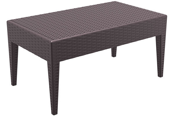 tavolino lounge effetto rattan